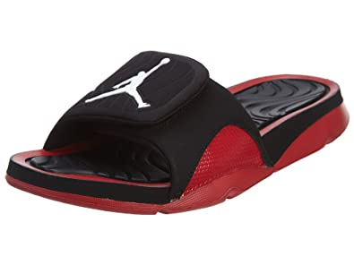 996fa9fa5592d3 Jordan Nike Men s Hydro 4 Black White Gym Red Sandal ...