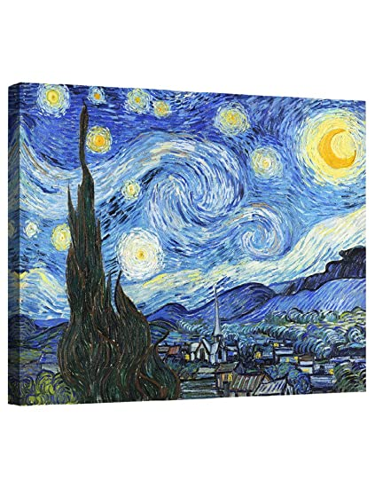 Amazon.com: Eliteart-- Starry Night By Vincent Van Gogh Oil Painting ...