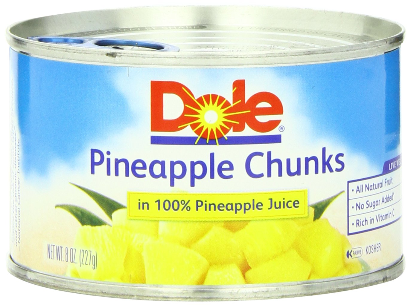 Dole Pineapple Chunks in Juice, 8-Ounce Cans (Pack of 24) by Dole