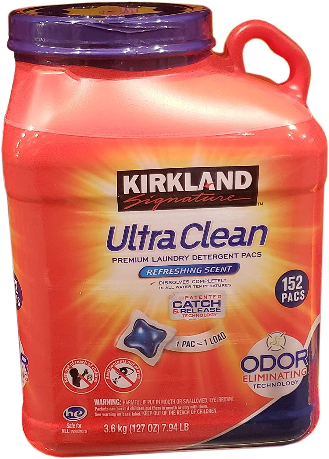 Kirkland signature Ultra Clean Laundry Pacs, 127 Ounce