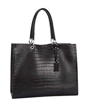3164f9d2dd David Jones - Grand Sac à Main Shopper Cabas Fourre-Tout Femme - Sac Cuir  Croco - Sac Tote ...