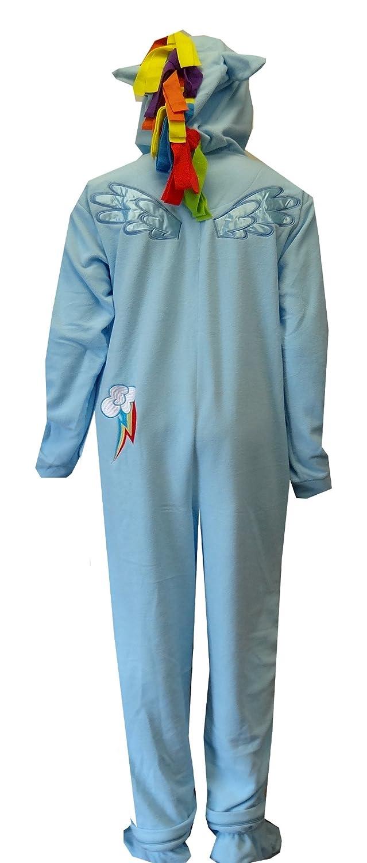 Amazon.com: My Little Pony Rainbow Dash Fleece One Piece Footie Pajama for men (Medium): Clothing