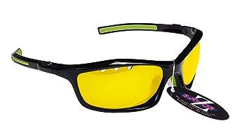6dafa1f829 RayZor Professional Lightweight UV400 Black Sports Wrap Cricket Sunglasses