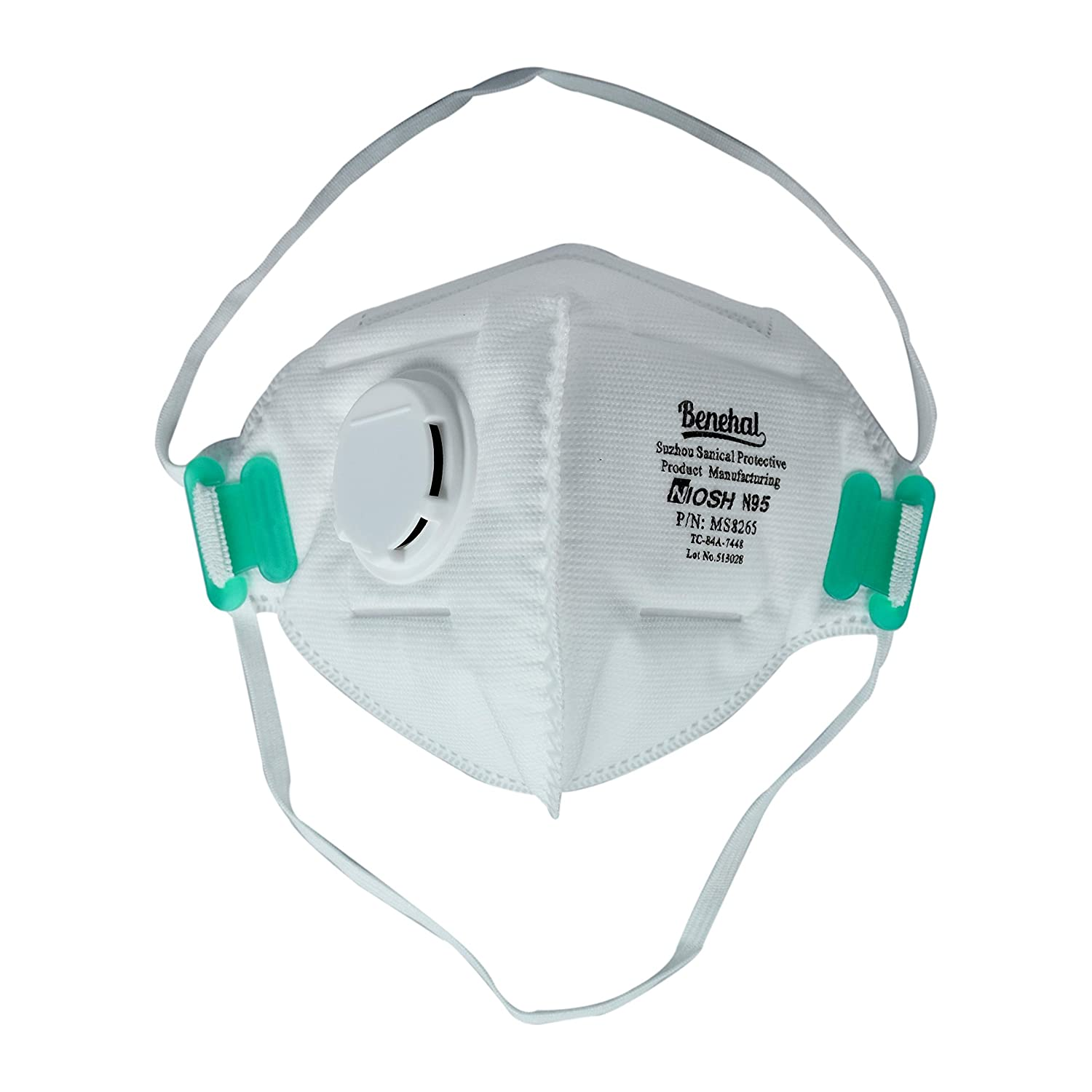 Mask Anti-pollution Model-8265 Facepiece Niosh-approved Respirator N95 Pack Pcs 10 Benehal Of Particulate white Filtering