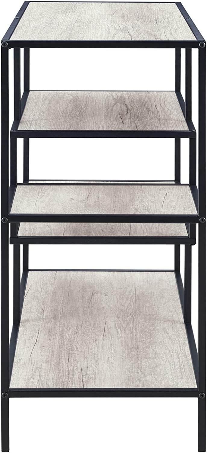Classic Brands Bailey Sofa Console Table, Rustic White: Kitchen & Dining