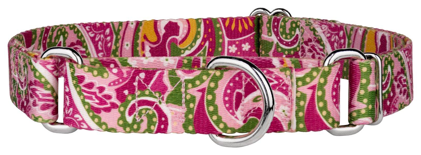 Country Brook Petz | Pink Paisley Featherweight Martingale Dog Collar - Mini