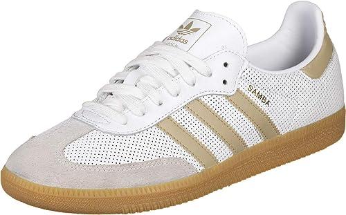 ficción hormigón Criticar  adidas Originals Samba OG, Footwear White-raw Gold-Grey One, 4,5:  Amazon.fr: Chaussures et Sacs