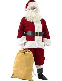 331c65364 Amazon.com  WHOBUY Men s Deluxe Santa Suit 10pc. Christmas Adult ...