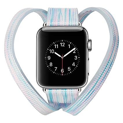 Amazon.com: Para Bandas de Apple Watch 38 mm. Largo Collar ...