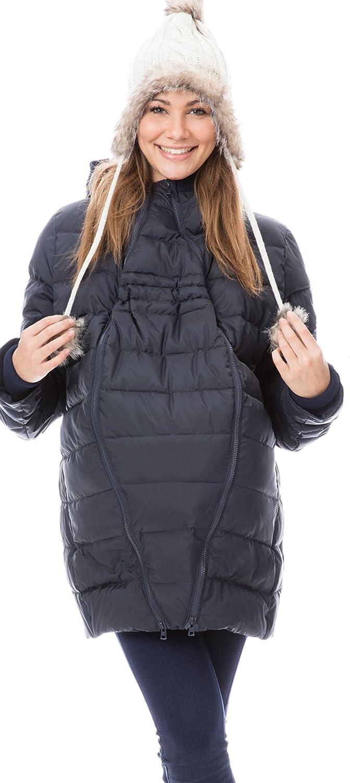 GoFuture Damen Tragejacke für Mama und Baby 4in1 Känguru Jacke Umstandsjacke Daunen Winter Noorvik GF2318