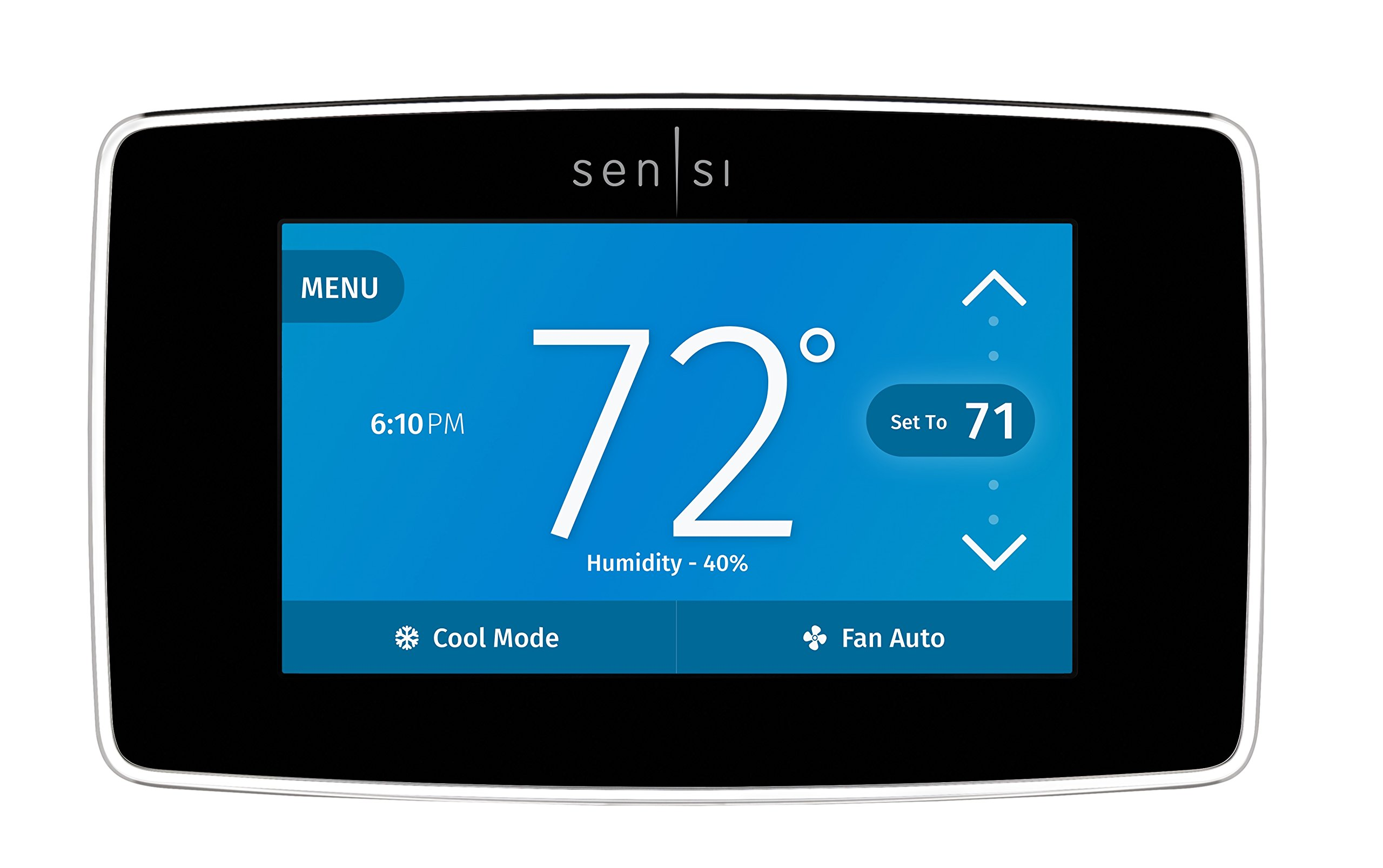 Emerson Sensi Touch Wi-Fi Thermostat with Touchscreen Color Display for Smart Home, ST75 by Emerson Thermostats