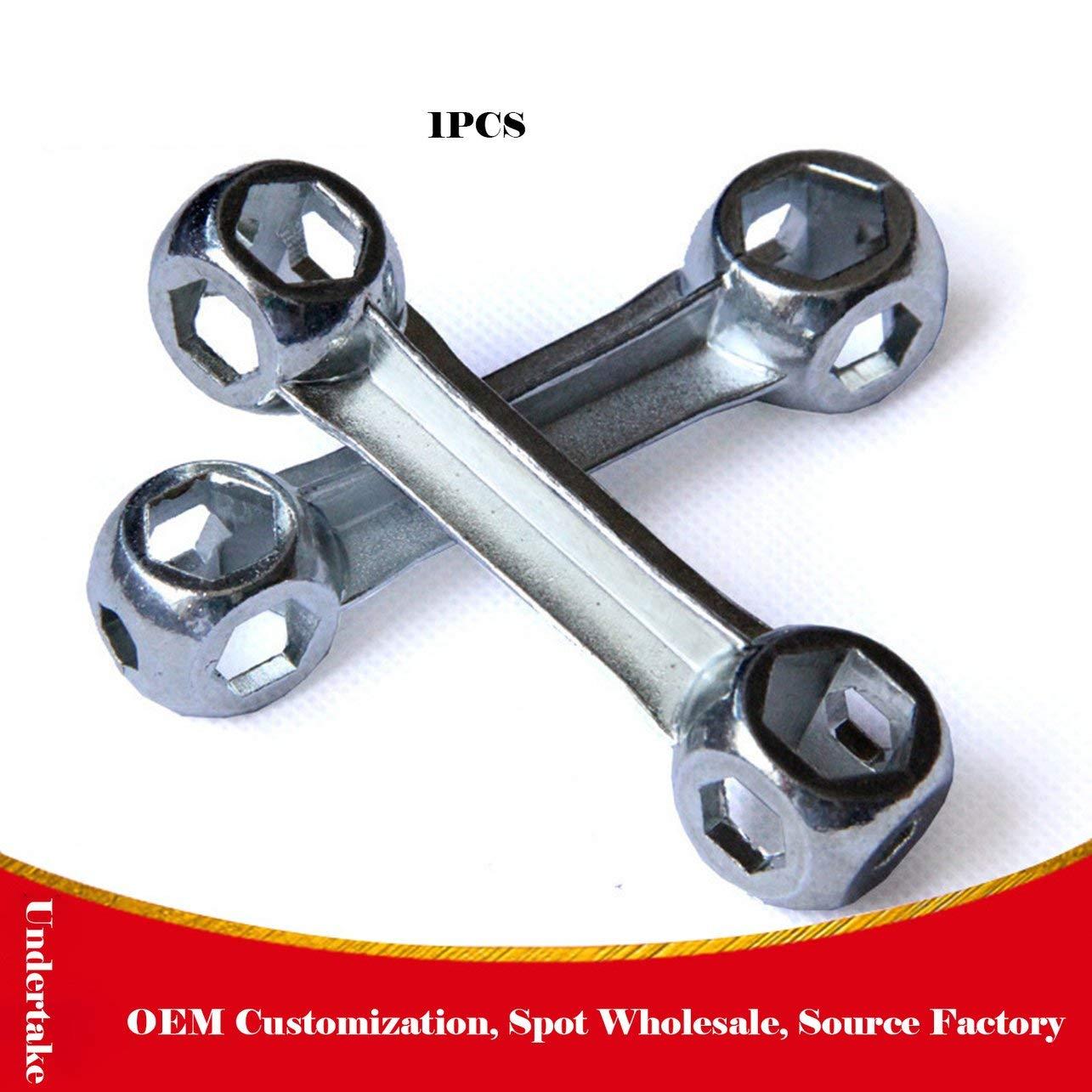 Bone Wrench Bicicleta Llave multiprop/ósito Llave hexagonal Herramienta de funda de bicicleta