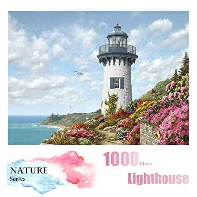 Landscape Puzzle -1000 Piece Jigsaw Puzzle and Rompecazas for Adults, Kids, Teens and Family(Lighthouse Puzzle): Toys & Games