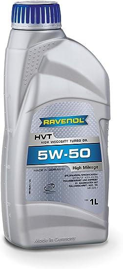 Ravenol Hvt Sae 5w 50 5w50 Synthetisches Motoröl Für Hohe Laufleistung Ab Ca 100 000 Km 1 Liter Auto