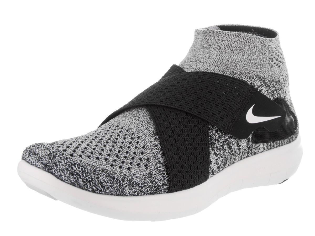 Nike W Free RN Motion FK 2017, Zapatillas de Entrenamiento para Mujer 37.5 EU Multicolor (Black/White/Pure Platinum/Wolf Grey 001)