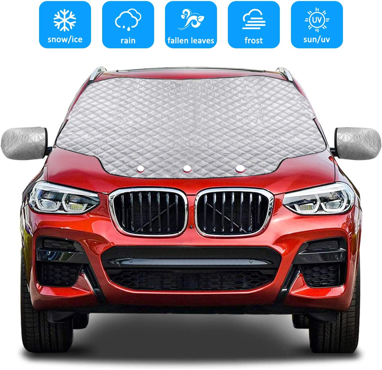 MAGNETIC WINDSCREEN COVER ICE SNOW FROST SHIELD CAR WINTER CHRISTMAS GIFT COLD