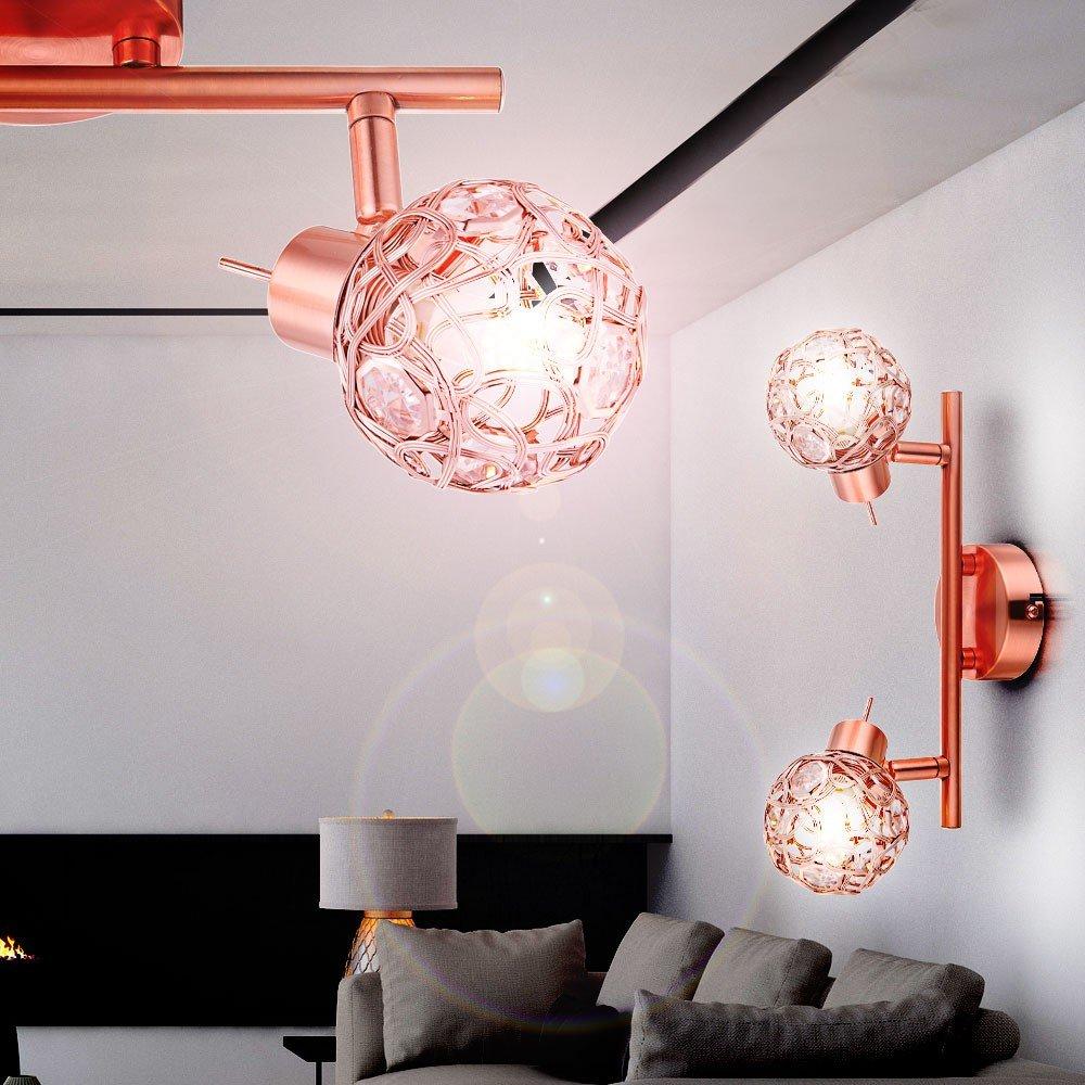 Amazon.de: Elegante LED Wand Decken Leuchte Kupfer Draht Geflecht ...