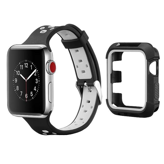 Apple Watch Banda 3 con funda, mairui iWatch 3 suciedad a ...