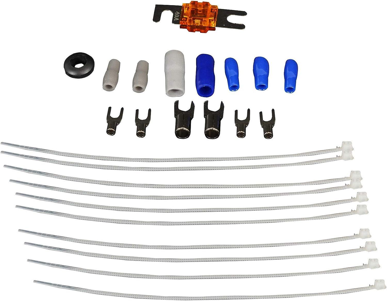 Rockville RWK8ATV 8 AWG Gauge Amplifier//Amp Installation Wire Kit 4 RZR//ATV//UTV