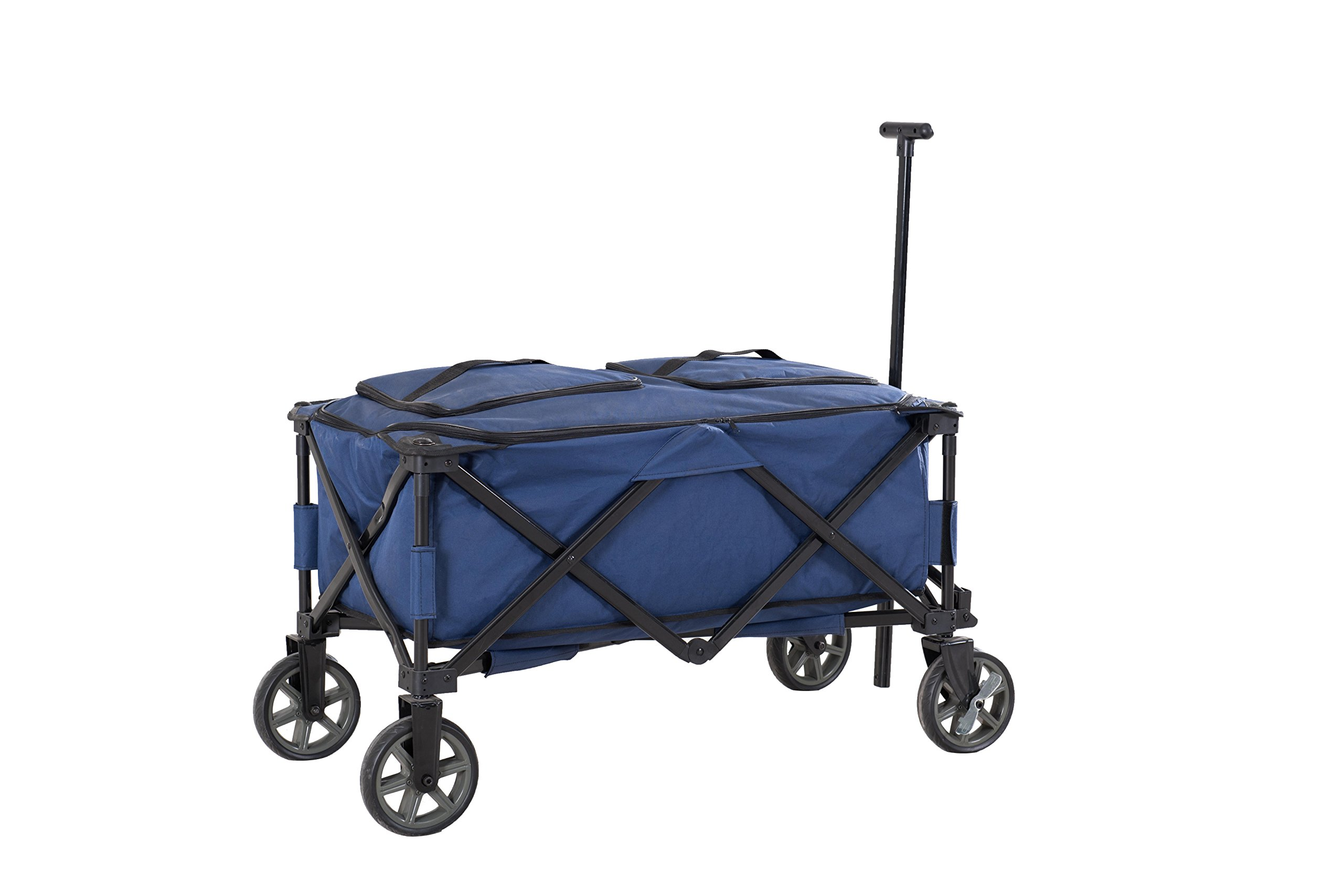 Sunjoy Wheeled Collapsible Beverage Cooler in Blue