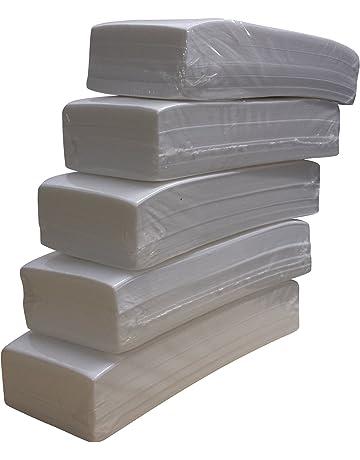 Lote de 500 bandas de papel para depilación con cera (5 paquetes de 100 unidades