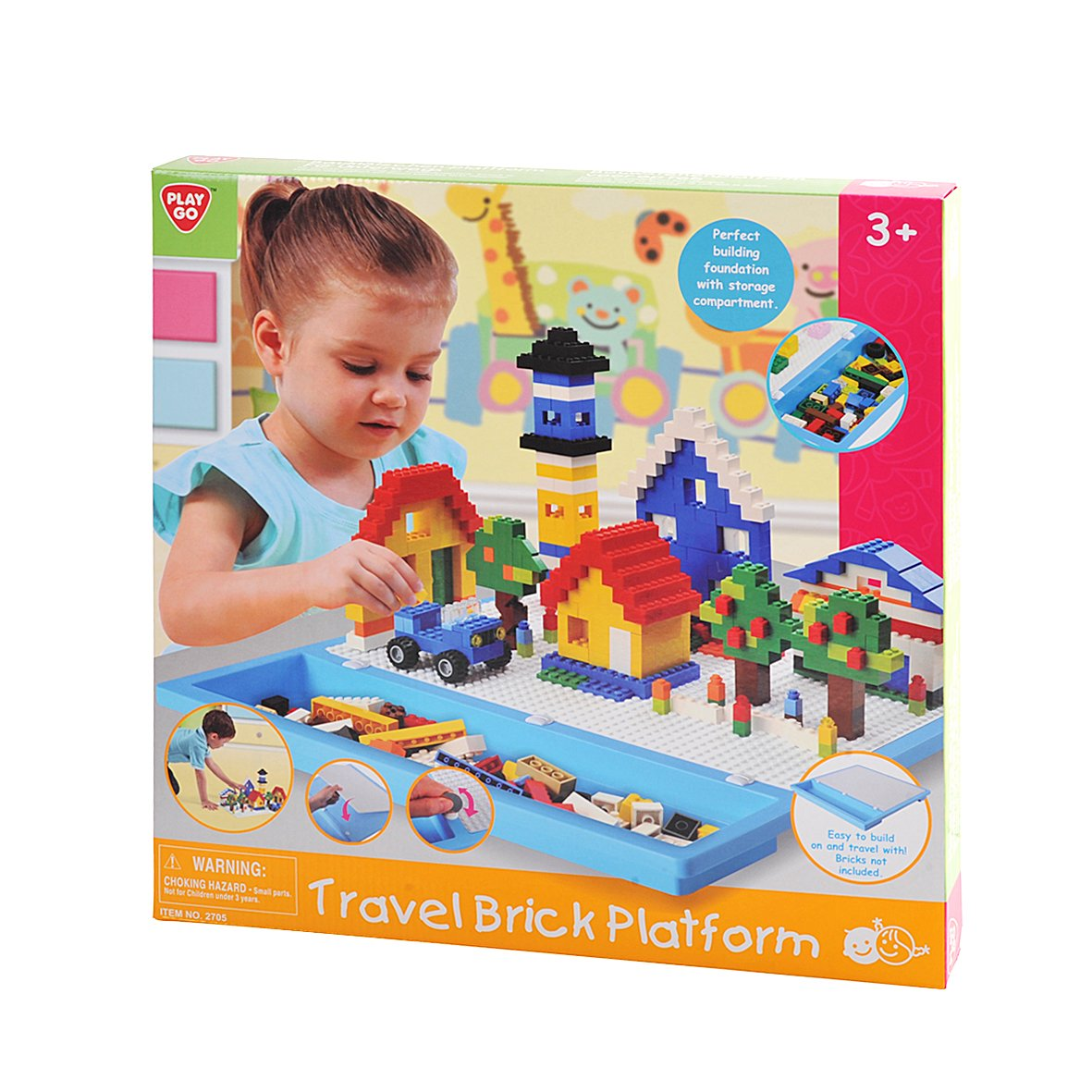 PlayGo Travel Brick Platform Bricks Not Included Midos Toys Distributor 1750