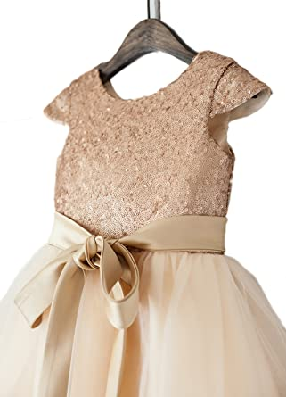 0987d94ed06 Image Unavailable. Image not available for. Color  Gold Sequin Tulle Girl  Dress