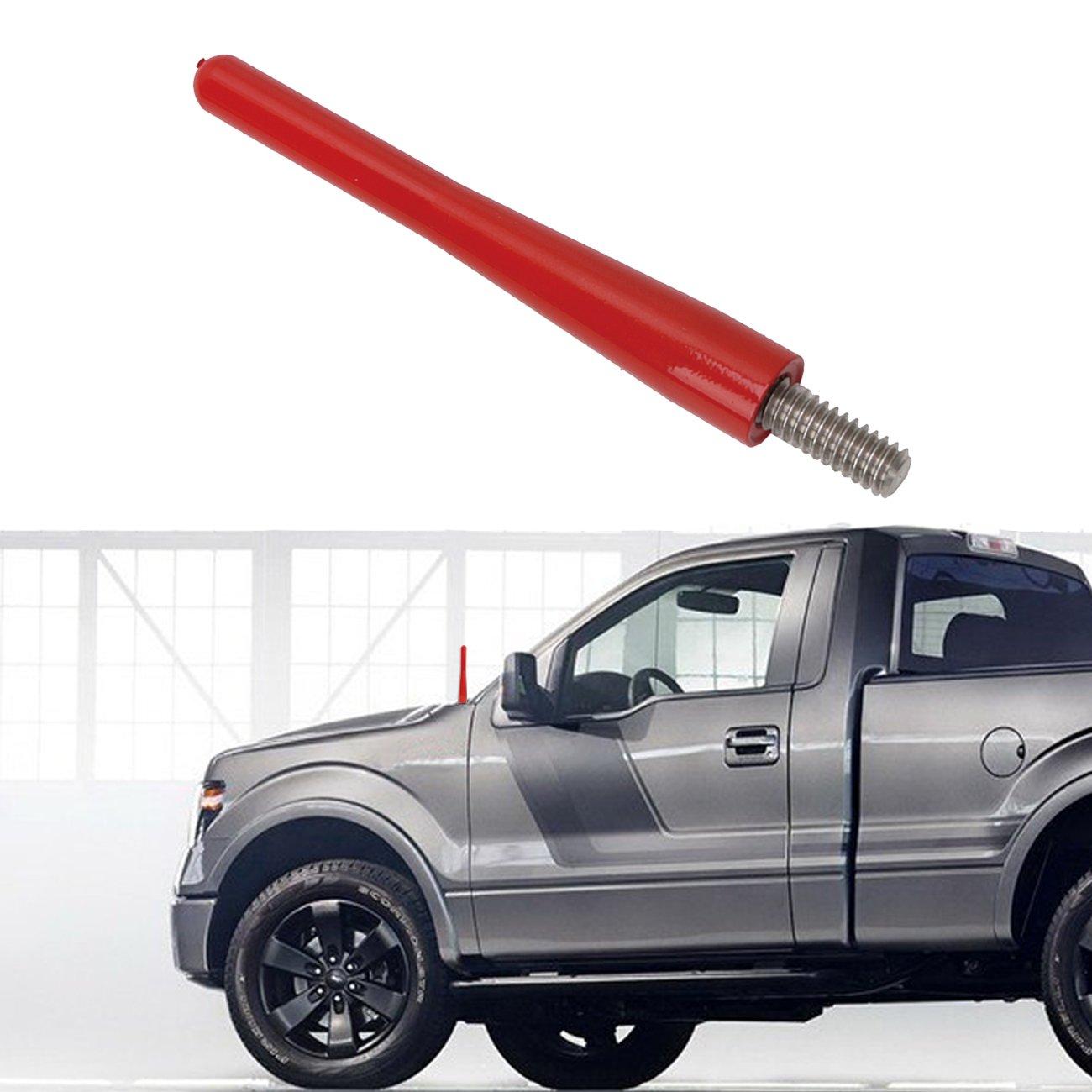 3' 6MM Metal AM FM Radio Reflex Antenna for Ford F-150 Truck 2009-2017 Silver Espear