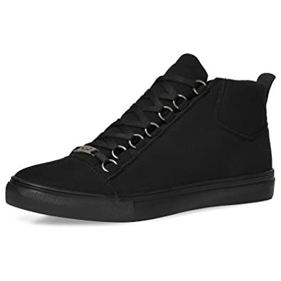 Tamboga Herren High Top Sneaker Schuhe Sport Skater Weiß Blau G5 Clean