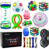 EDsportshouse Fidget Sensory Toy Assortment-Stress and Anxiety Relieves Toys for Autistic Kids with ADHD Autism Black