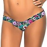 Covermason Mujer Bikini Playa Trajes de Baño Multicolor Impresión Tangas