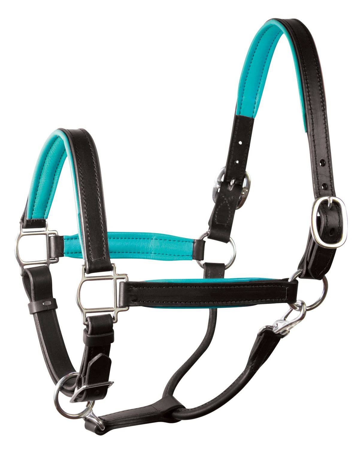 Black Black Brass Cob Black Black Brass Cob Perri's Soft Padded Leather Halter