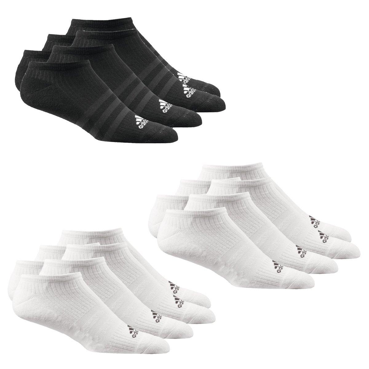 9 Paar adidas Sneakersocken NoShow 6 Paar Weiß + 3 Paar Schwarz in Größe 43-46 (L)