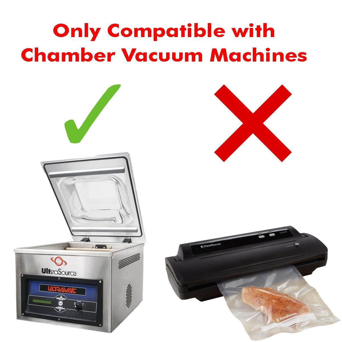 UltraSource Vacuum Chamber Pouches, 3 mil, 10'' x 18'' (Pack of 500) by UltraSource (Image #2)