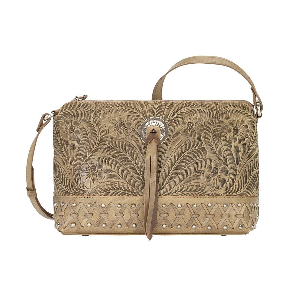 American West Women's Dove Canyon Crossbody Bag Sand One Size