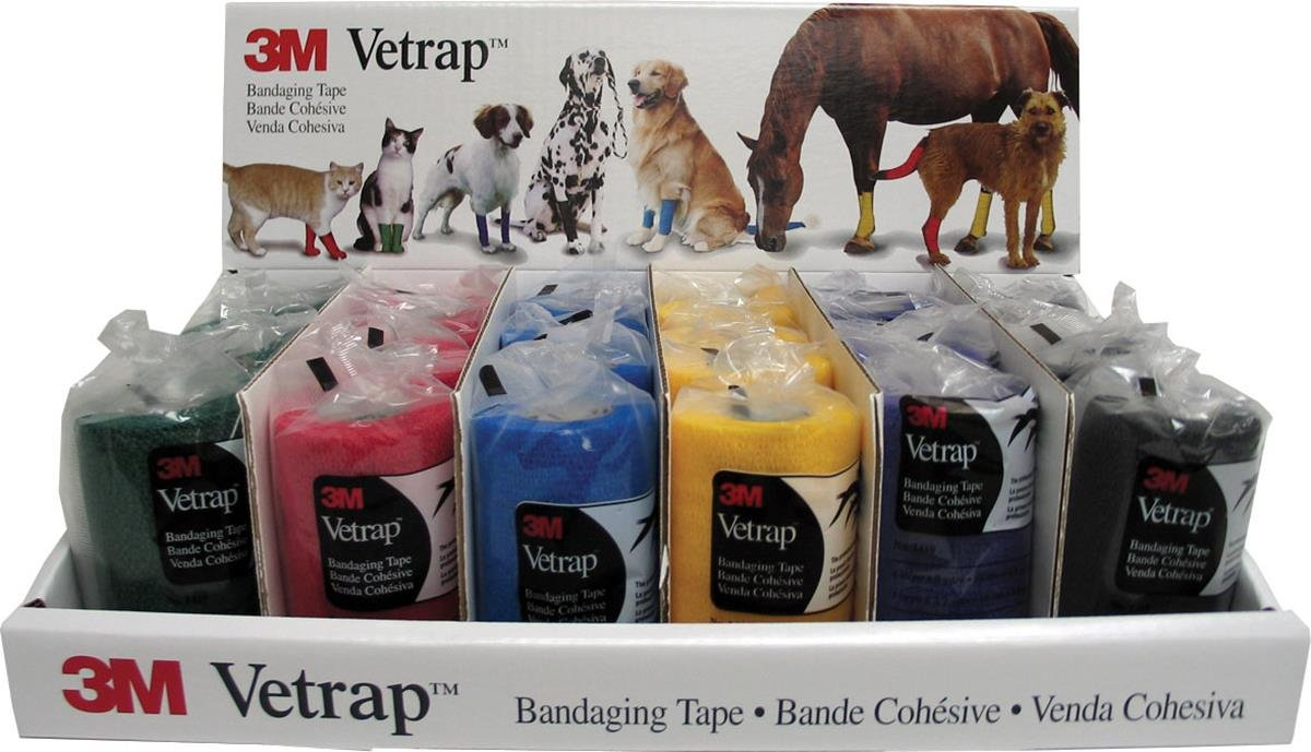 3M Vetrap Assorted Color Bandaging Tape (Case of 24)