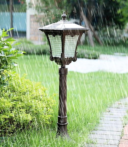 Vampsky Europeo LED Solar Exterior Jardín Césped Luz Sensor de movimiento Luces de seguridad Resistente a la intemperie Fuera de Sensor externo Luces Poste de calle Lámpara Camino Jardín Piscina Pasar: Amazon.es: