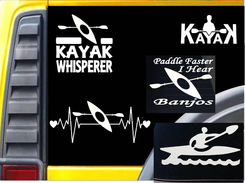 Amazon com value pack kayak decals m147 sticker kayaker yak oar strap decal automotive