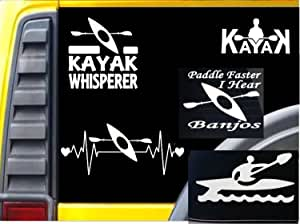 Kayak Kayaking Decal Sticker Heartbeat Lifeline Boating Oar Paddle Life Ski Vest