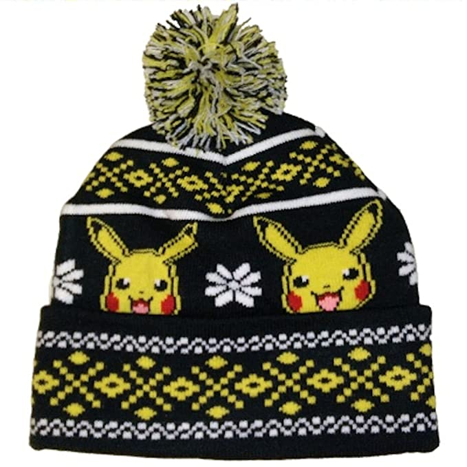 ... czech amazon pokemon pikachu knit pom hat clothing 8b69e 0db63 cbb93fa4e1a8
