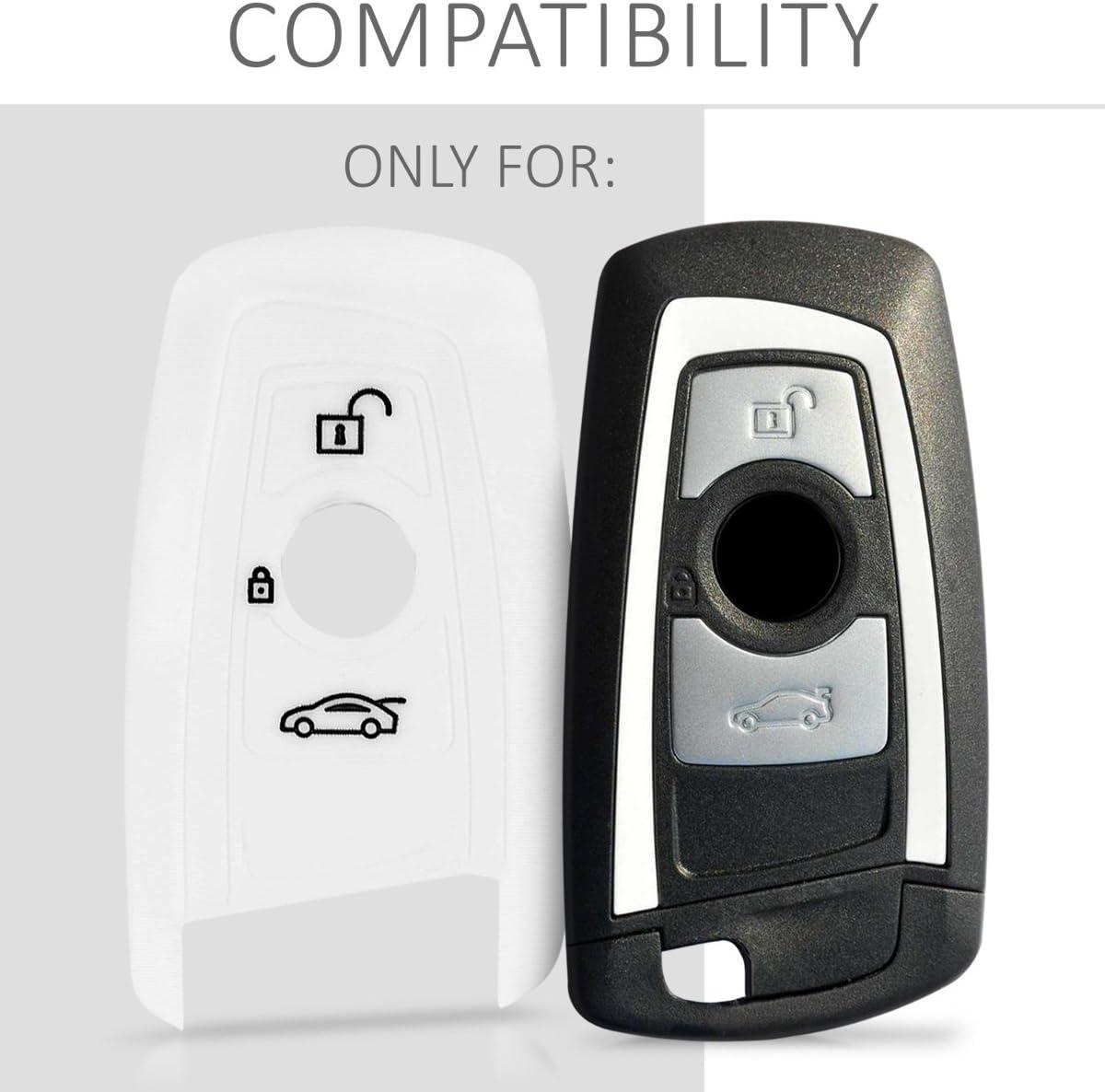 /Étui de Protection Souple BMW 3-Bouton en Silicone m/étallique dor/é Coque pour Clef de Voiture /à Distance kwmobile Accessoire cl/é de Voiture pour BMW Keyless Go Uniquement