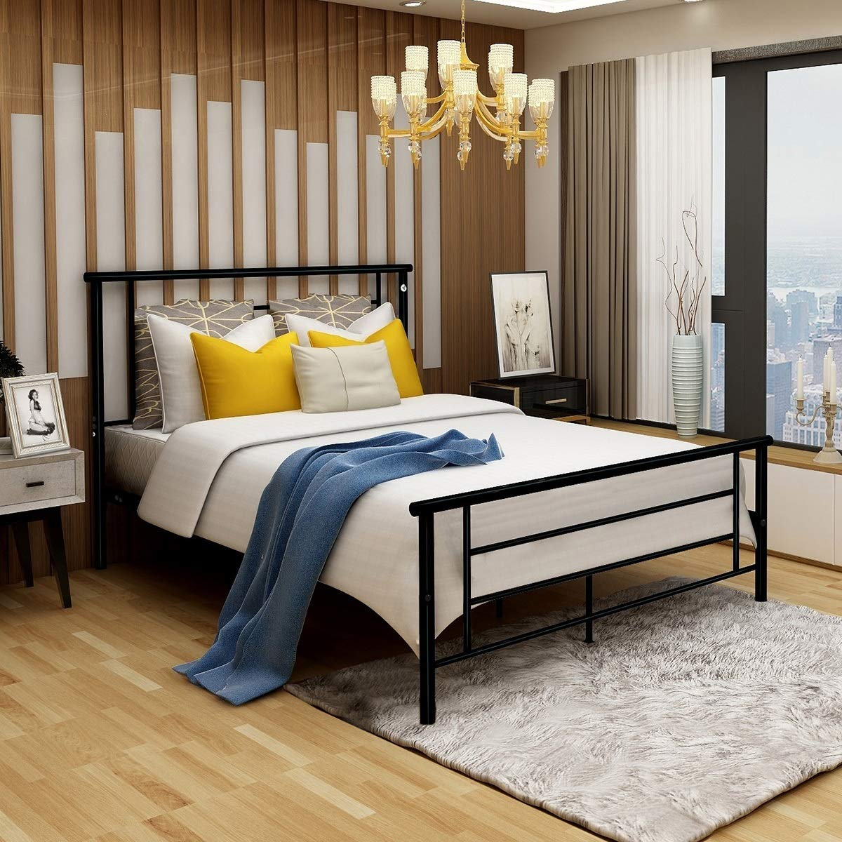 Amazon Com Modern Style Platform Metal Bed Frame Foundation