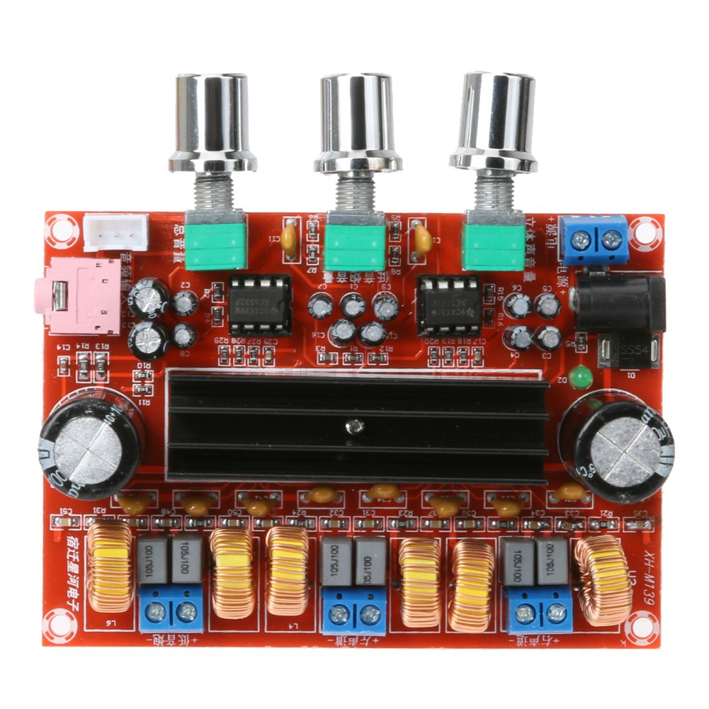 Alloet TPA3116D2 50Wx2 +100W 2.1 Channel Digital Subwoofer Power Amplifier Board