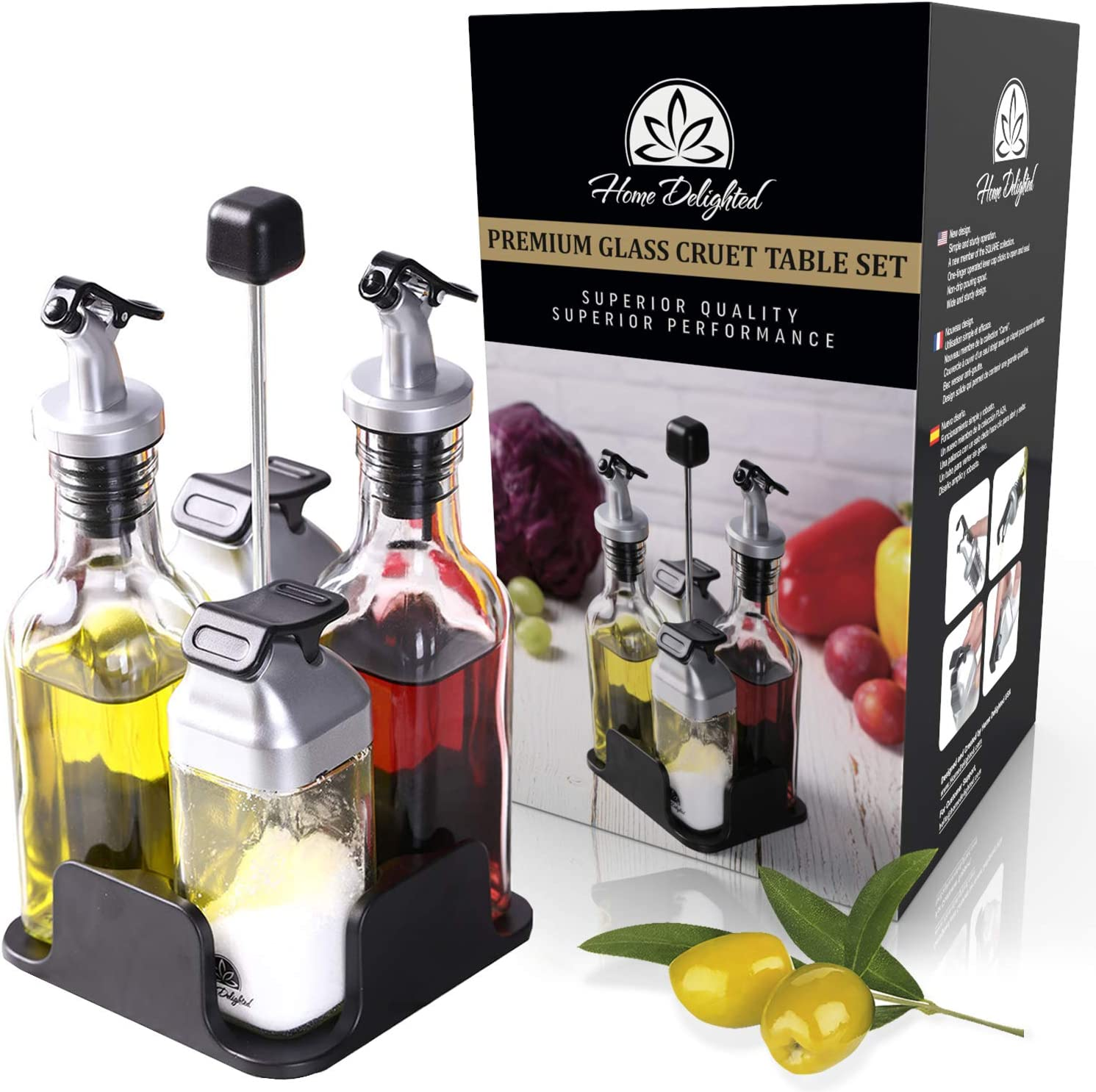 olive oil cruet handmade gift housewarming gift 9th anniversary gift oil and vinegar cruet cooking gifts oil and vinegar bottle