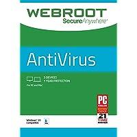 Webroot - Protección antivirus para Internet 2018, 3 dispositivos, 1 año de suscripción, PC