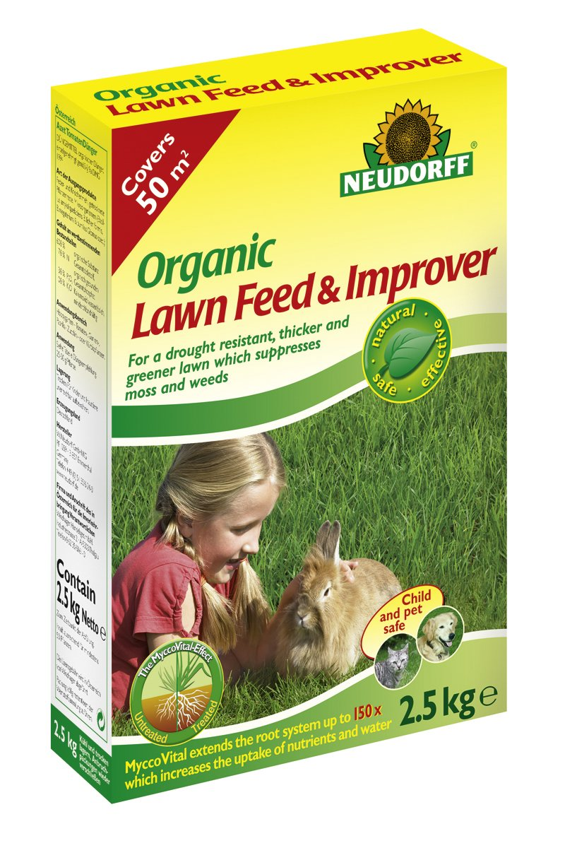 Doff Portland Ltd Neudorff 2.5Kg Organic Lawn Feed and Improver 613601
