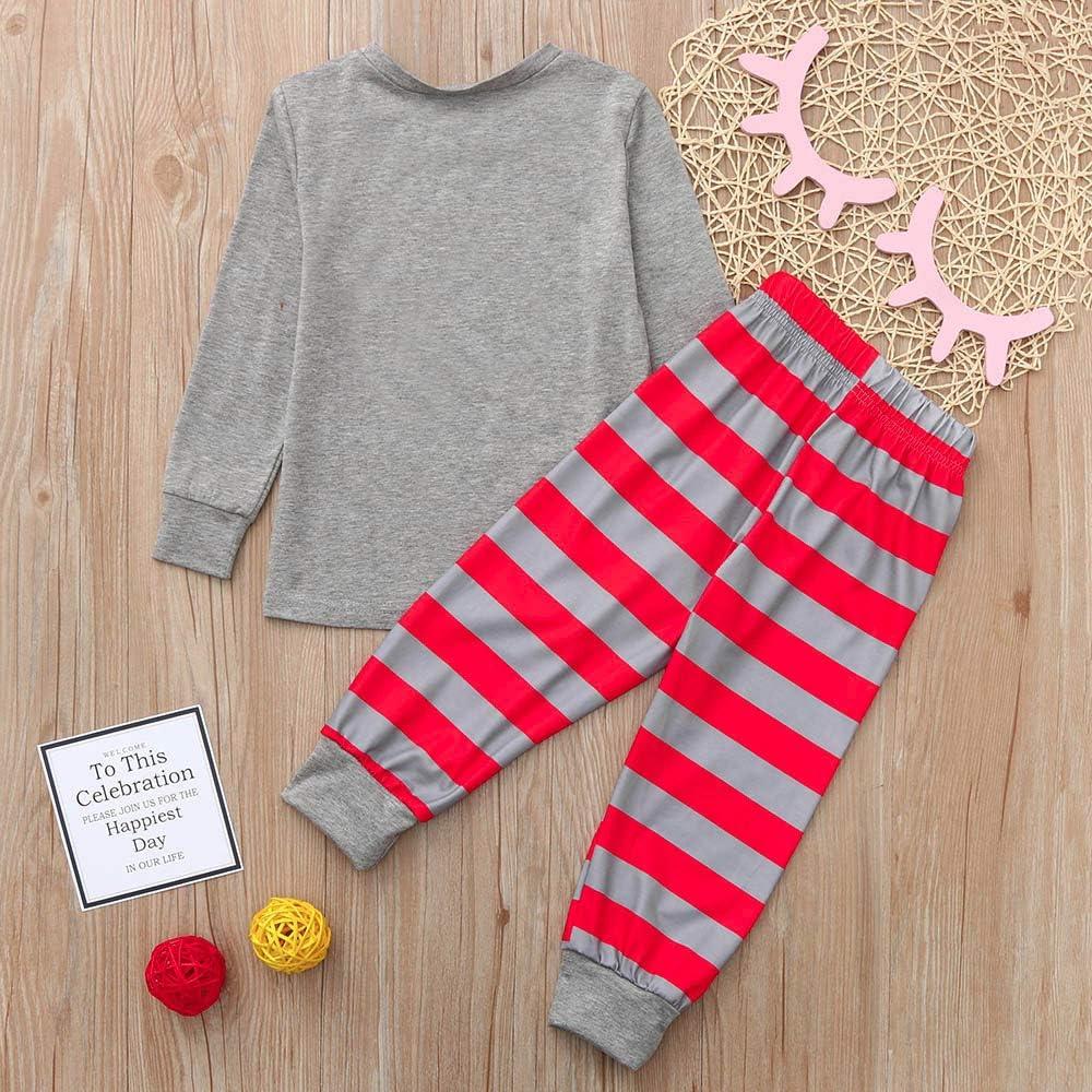 Shybuy Matching Family Christmas Pajamas Boys Girls Tree Jammies Children PJs Gift Set Family Matching