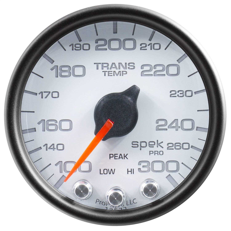 Auto Meter P34212 Gauge, Trans Temp, 2 1/16'', 300ºf, Stepper Motor W/Peak & Warn, Wht/Blk, Spek-Pro