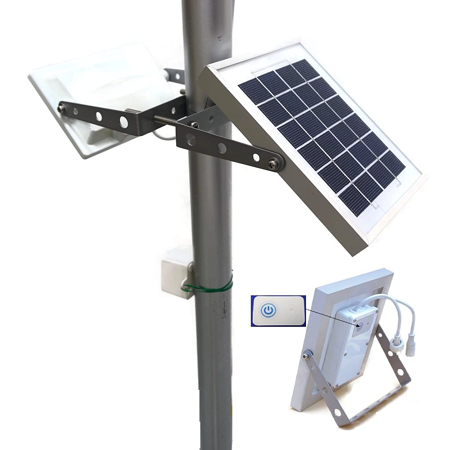 Solar Pole Lighting Part - 46: GUARDIAN 580X Solar Street Light 730 Lumen Full Brightness, With Standalone  Guardian PIR Motion Sensor And Lithium Battery, 3 Lighting Modes - -  Amazon.com