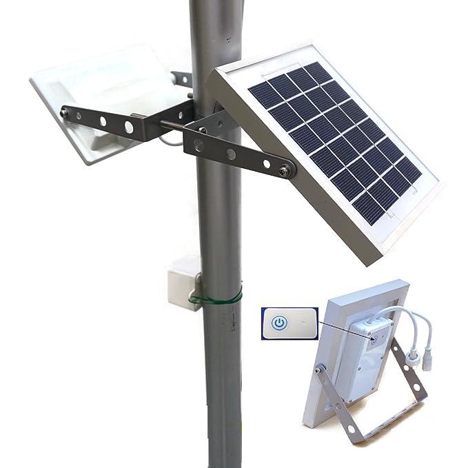 Farola solar GUARDIAN 580X con 730 lúmenes a máxima luminosidad, Sensor de Movimiento Guardian PIR Automático y Batería de Litio, 3 Modos de Iluminación: ...